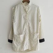 Design nocollar blouse.