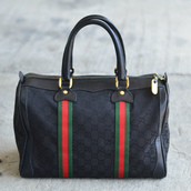 1980's  Vintage GUCCI boston bag