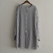 see-through stripe shirt.