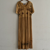 80's Vintage India rayon one-piece.