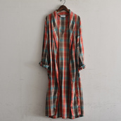 Vintage Check Gown